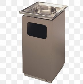Brown Stainless Steel Trash Can - Waste Container Stainless Steel PNG