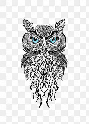Owl - Owl Man's Ruin Tattoo & Piercing Black-and-gray Scleral Tattooing PNG