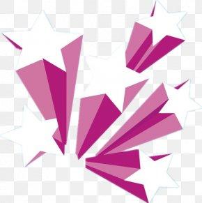 Purple Five-pointed Star Three-dimensional - Three-dimensional Space Euclidean Vector PNG