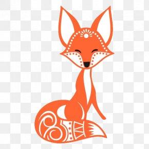 Cute Little Fox - Fox Clip Art PNG