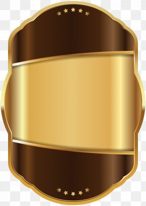 Label Template Brown Gold Clip Art Image - Label Gold Clip Art PNG