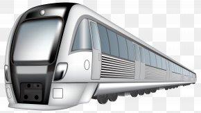 Bullet Train Silhouette - Train Rail Transport High-speed Rail Clip Art PNG