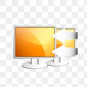 Yellow Computer Screen - Computer Monitors Display Device PNG