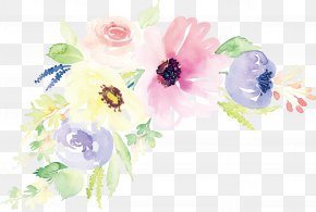 Watercolor Flower Vector - Floral Design Watercolor Painting Flower Illustration PNG
