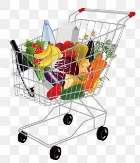 Vector Shopping Cart - Shopping Cart Supermarket Clip Art PNG