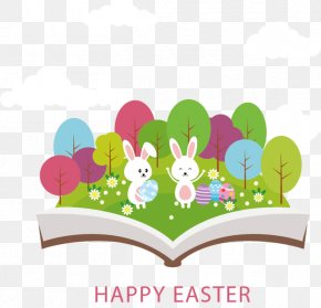Creative Easter - Easter Bunny Easter Egg Greeting Card PNG