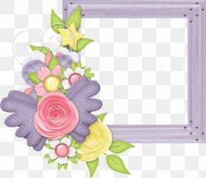 Design - Picture Frames Floral Design Clip Art PNG