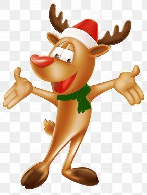Christmas Deer Clip Art Image - Rudolph Reindeer Christmas Clip Art PNG
