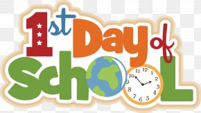 First - First Day Of School Student Day School Clip Art PNG