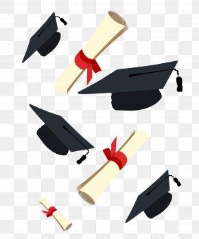 Dr. Cap And Diploma, Graduation - Graduation Ceremony Square Academic Cap Diploma Clip Art PNG