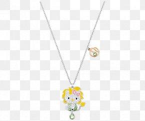 Swarovski Necklace Jewelry Women Yellow - Pendant Necklace Yellow Body Piercing Jewellery Pattern PNG
