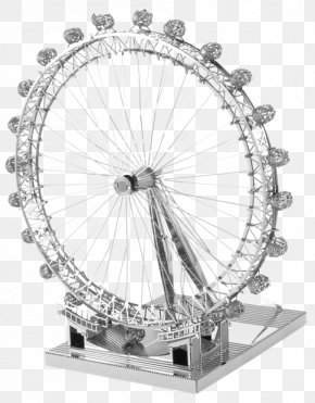 London Eye - London Eye Ferris Wheel Metal Earth Solder PNG