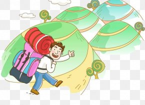 Backpackers - Mountaineering Cartoon Backpacking Tourism PNG
