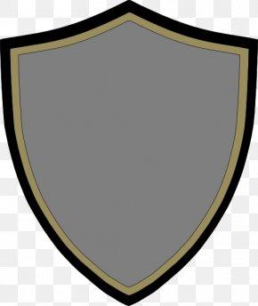 Black Shield - Shield Drawing Logo PNG