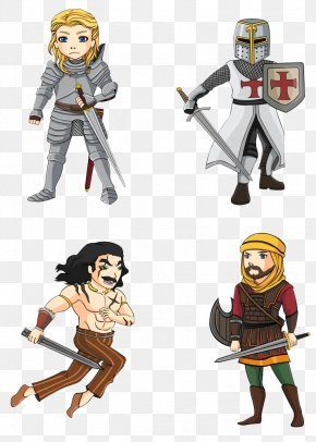 Various Types Of Soldiers - Cartoon Warrior Celtic Warfare Illustration PNG