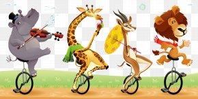 Circus Animals - Circus Cartoon Humour Illustration PNG