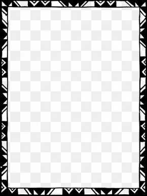 Border Design Black And White Tribal - Borders And Frames Islamic Design Picture Frames Clip Art PNG
