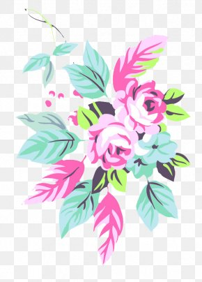 Hand-painted Roses - Pink Floral Design Flower PNG