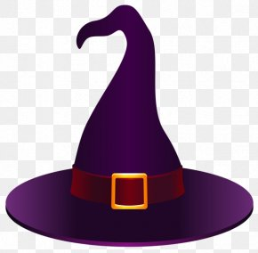 Purple Witch Hat Halloween Creative - Witch Hat Clip Art PNG