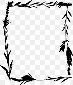 M Line Art Leaf - Clip Art Illustration Black & White PNG