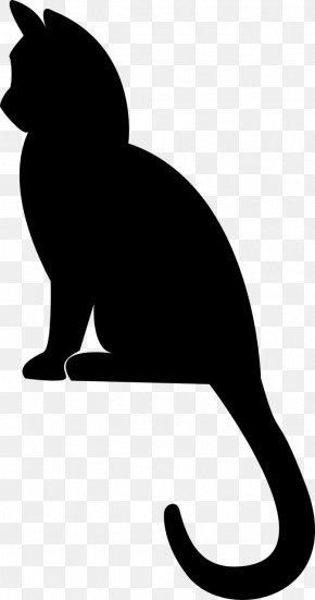 Kitten - Kitten Cat Silhouette Drawing PNG