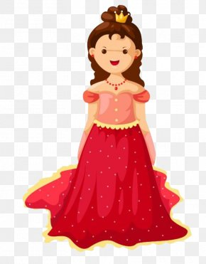 Red Dress Princess PNG