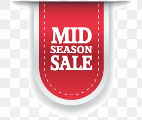 Mid Season Sale Label Clipart Image - Sales Label Sticker Clip Art PNG