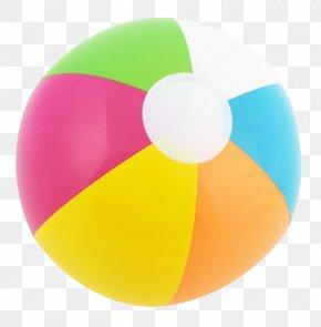 Beach Ball - Yellow Circle PNG