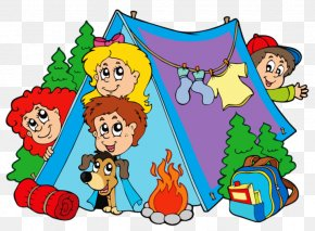 Child - Camping Summer Camp Child Clip Art PNG