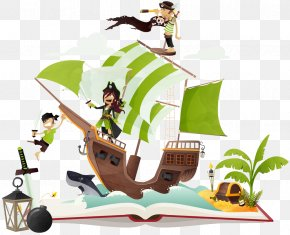 Sea Pirates - Piracy Royalty-free Pirat Jolly Roger Naval Boarding PNG