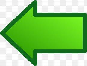 Green Bordered Arrow - Green Arrow Clip Art PNG