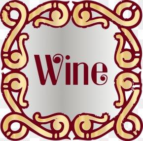 Monogram Lace Border - Wine Alcoholic Drink Clip Art PNG