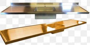 Stainless Shelf Countertop - Coffee Tables Sheet Metal Stainless Steel PNG