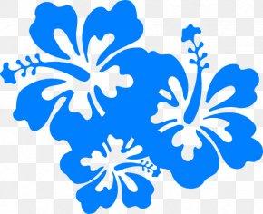 Blue Hibiscus Cliparts - Hawaiian Flower Clip Art PNG