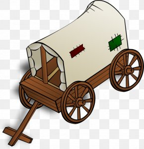 Fantasy Map Symbols - Rail Transport Covered Wagon Cart Clip Art PNG