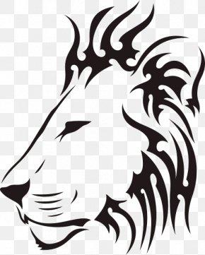 Lion - Lion Tattoo Mehndi Tiger Drawing PNG