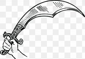 Pendulum Vector - Scimitar Shamshir Sword Weapon Clip Art PNG