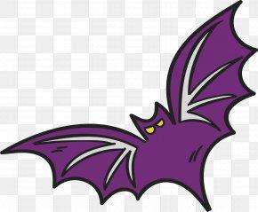 Purple Bat - Bat Clip Art PNG