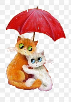 Rainy Day Material Free Download - Cat Kitten Felidae Mouse Painter PNG