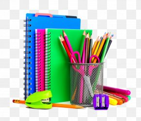 Colored School Supplies - School Supplies Stationery Notebook Resource Room PNG