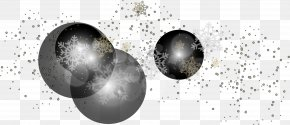 Winter Snowflake Effect Elements - White Black Sphere PNG