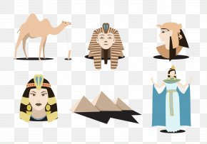Vector Pharaoh Cleopatra Camel - Ancient Egypt Pharaoh PNG
