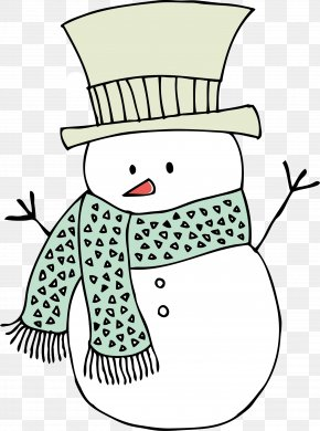 Cartoon White Snowman - Rubber Stamp Postage Stamp Cardmaking PNG