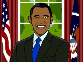 Barack Obama Cliparts - Barack Obama President Of The United States BrainPop Clip Art PNG