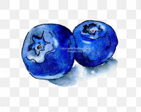 Blueberry - Watercolor Painting Drawing Fruit Ink Blueberry PNG
