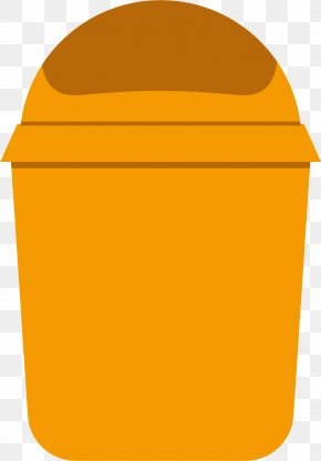 Big Yellow Trash Can - Waste Container Icon PNG