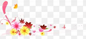 Herbaceous Plant Floral Design - Pink Flower Cartoon PNG