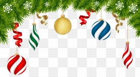 Christmas Deco Ornaments Transparent Clip Art Image - Christmas Decoration Christmas Ornament Clip Art PNG