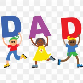 Fathers Day Pic - Alphabet Child Clip Art PNG