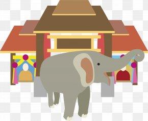 Thailand Elephant Vector - Indian Elephant Illustration PNG